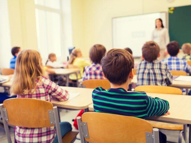 Дети и учитель 2018