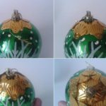 елочный шар в пайетках