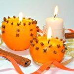 Новогодние подсвечники из апельсинов