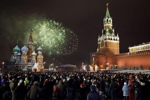 Москва Новый год 2018