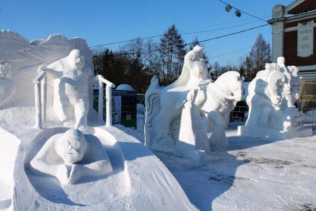 снежные статуи новосибирск