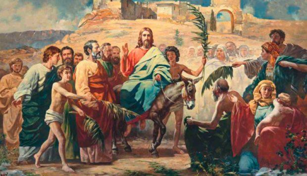 Вербное воскресенье Иисус