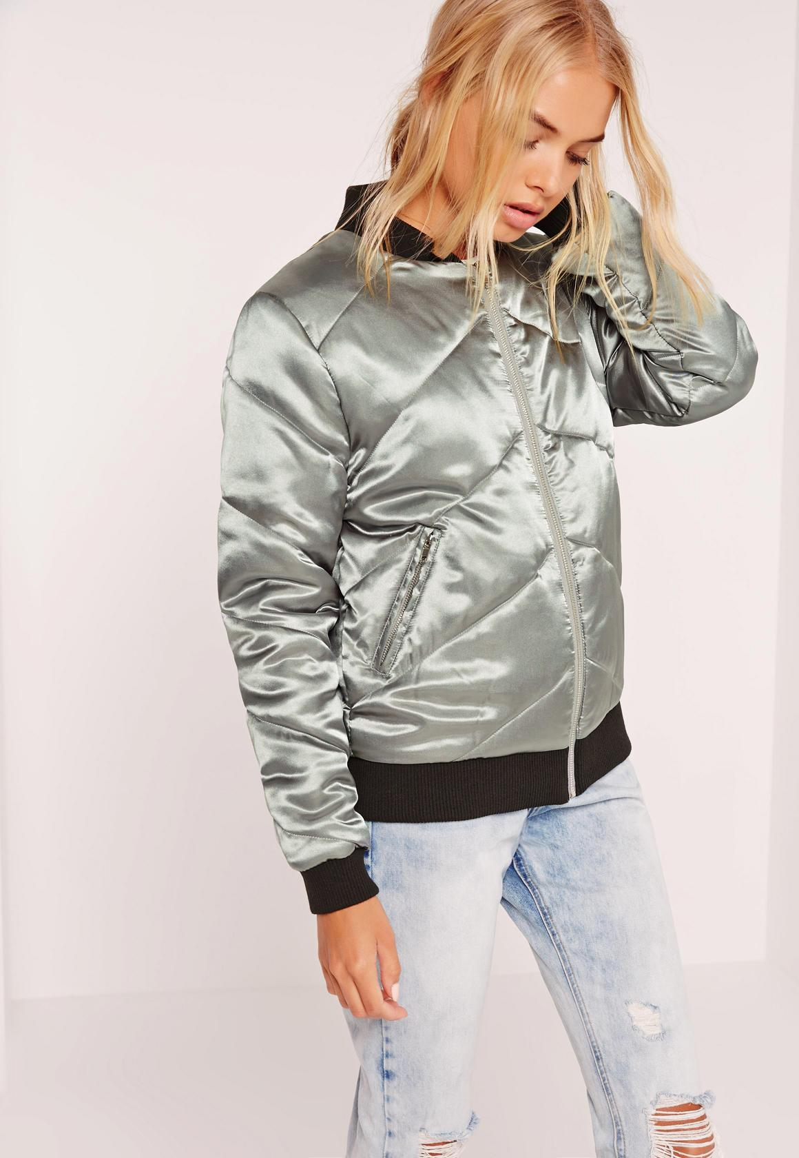 куртка короткая серебро