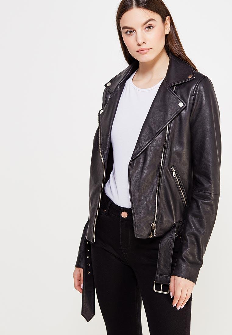 модные кожаные куртки весна 2019: черная косуха
