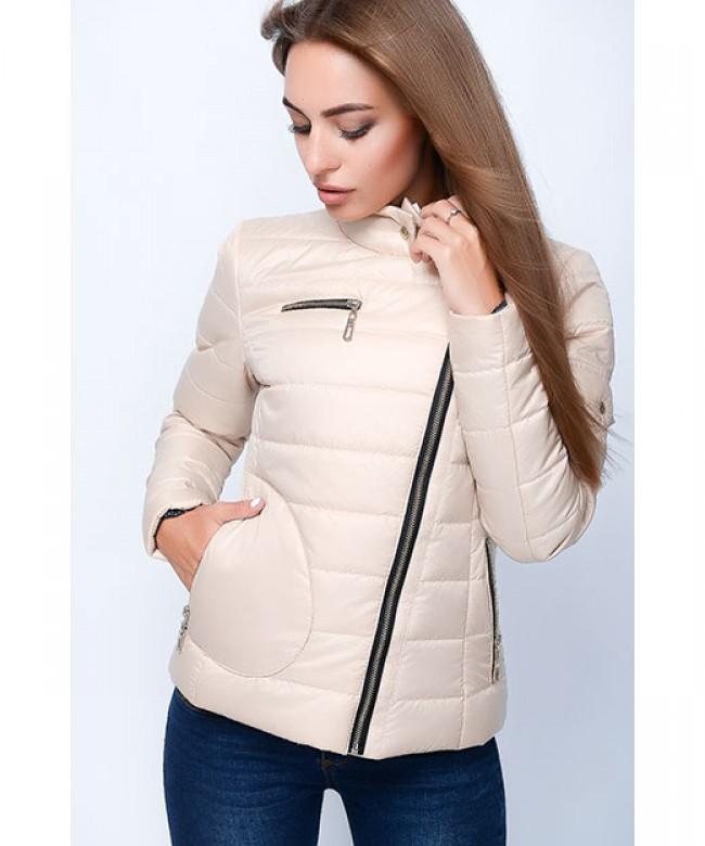 куртка синтепоновая светло-бежевая