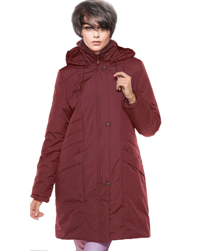финская куртка трапеция бордово-коричневая