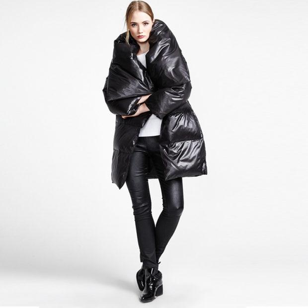 финская куртка черная