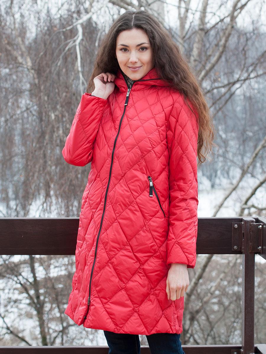 финская куртка красная стеганая
