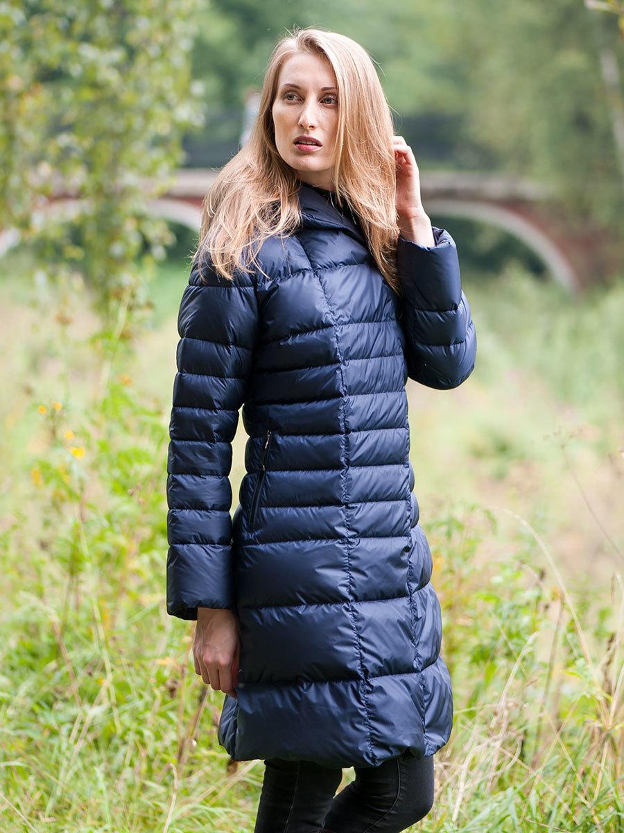 финская куртка синяя стеганая