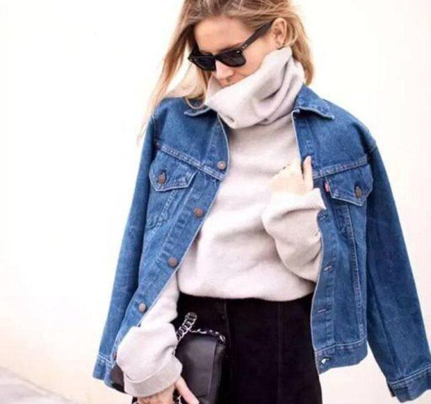 джинсовая куртка синяя классика