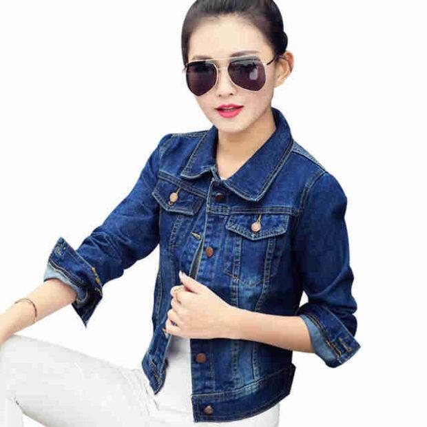 короткая куртка джинсовая синяя