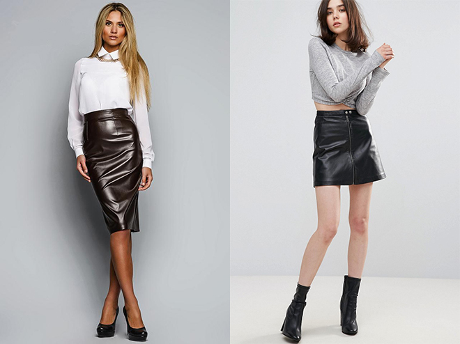 модные юбки весна лето 2019: кожаные по фигуре коричневая короткая черная