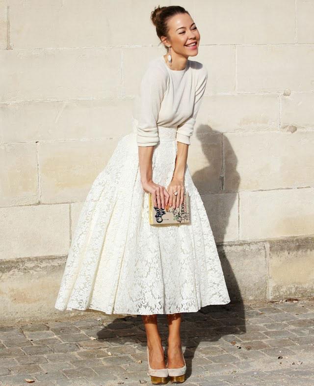 модные юбки 2019 года весна лето: широкая белая кружевная