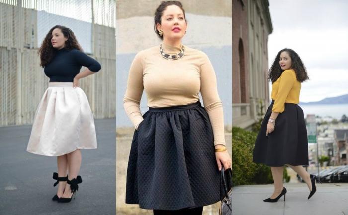 модные юбки 2019 года весна лето: широкая белая по колено черная по колена
