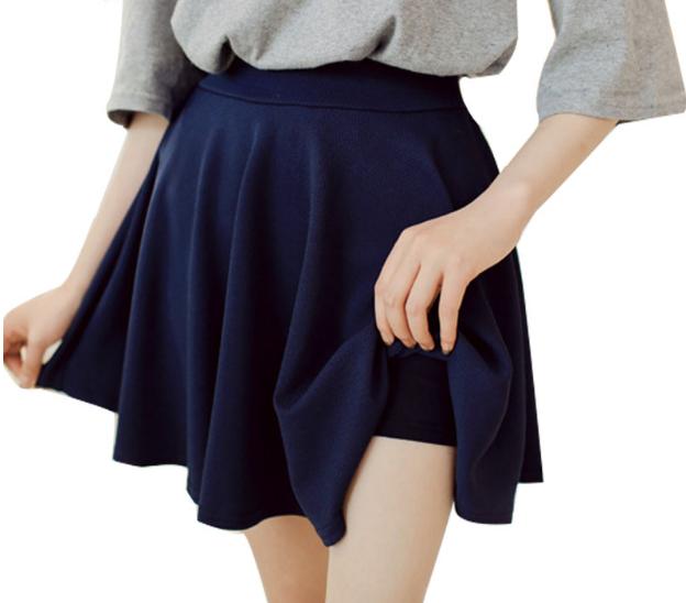 модные юбки 2019 года весна лето: шорты синяя
