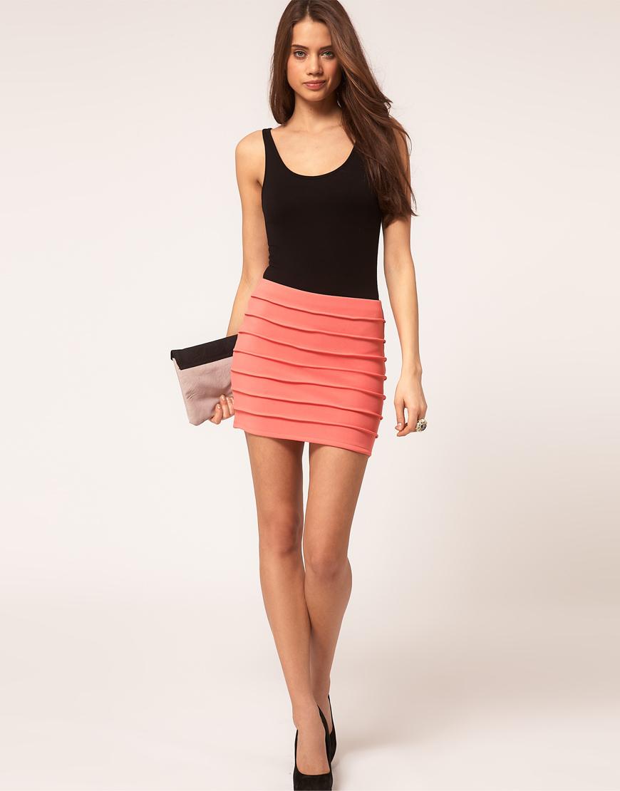модные юбки 2019 года весна лето: облегающая розовая короткая