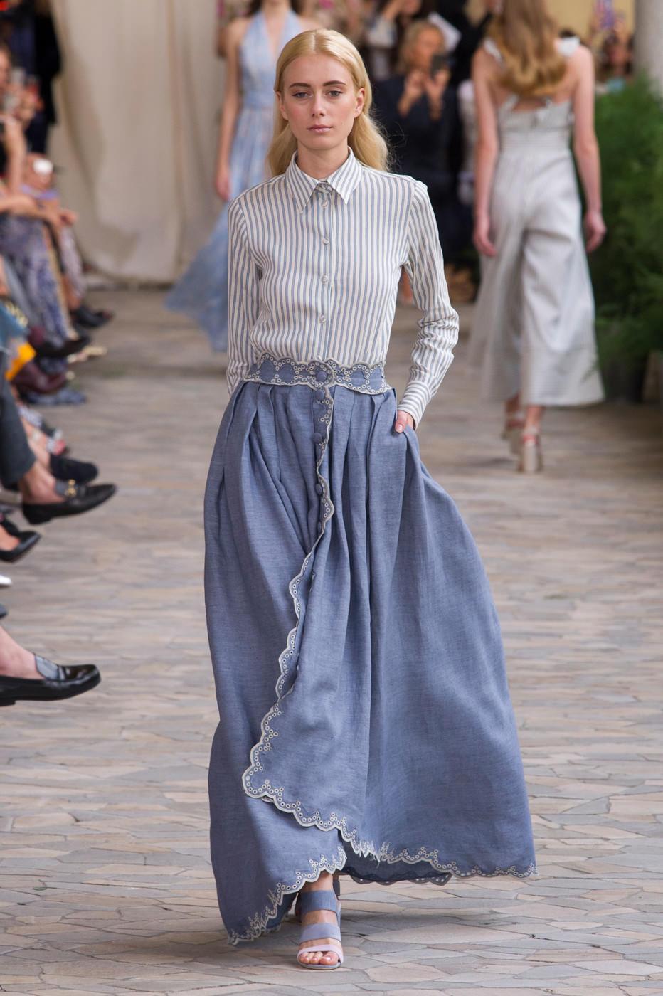 модные юбки весна лето 2019 фото: широкая в пол
