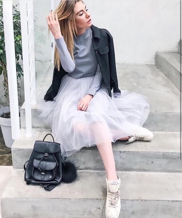 модные юбки весна лето 2019 фото: широкая прозрачная белая