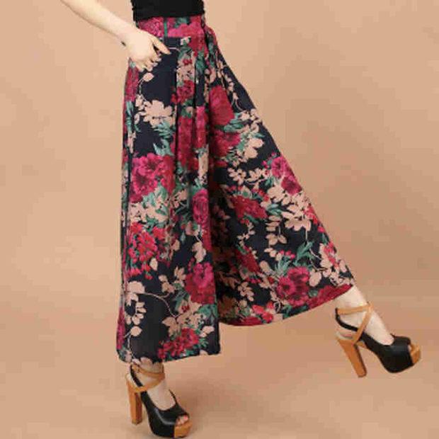 юбка 2019 фото новинки весна лето: брюки в цветы