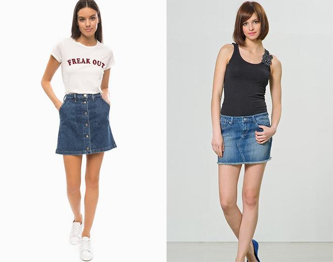 модные юбки весна лето 2019: короткие джинсовые