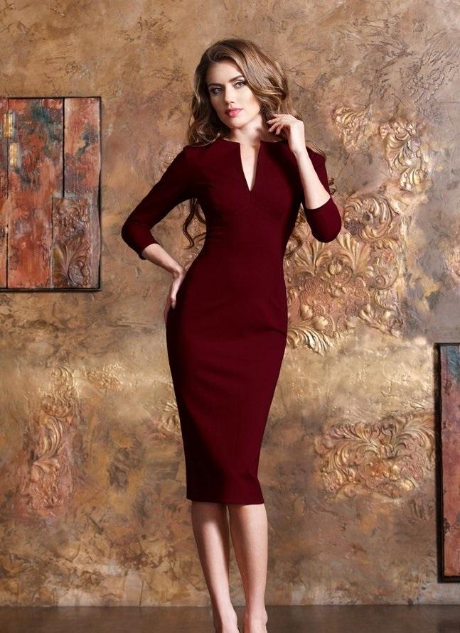 цвет марсала это какой: платье миди