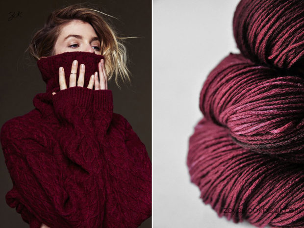 цвет марсала: свитер