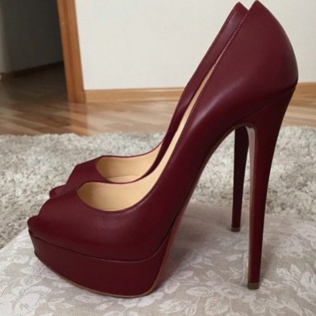 цвет марсала это какой: туфли на шпильке