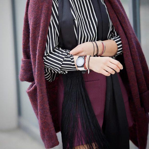 цвет марсала это какой: юбка и кардиган