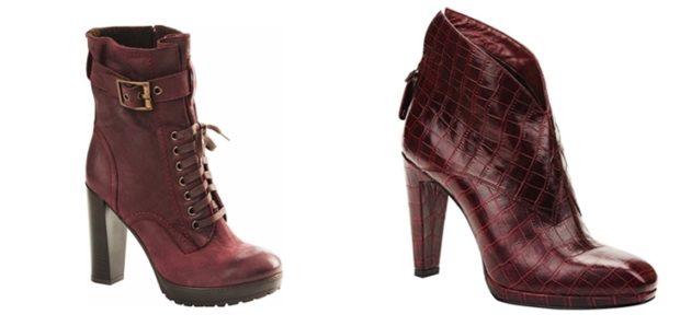 цвет марсала это какой: ботинки на каблуке