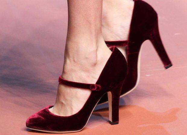 цвет марсала: туфли лодочки