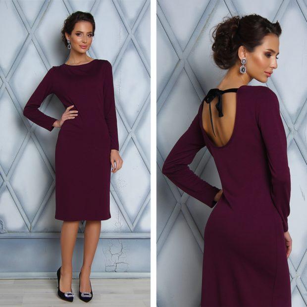 цвет марсала: платье