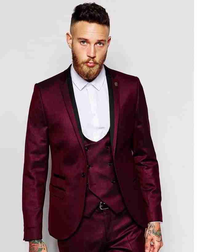 мужской костюм цвет марсала: костюм тройка