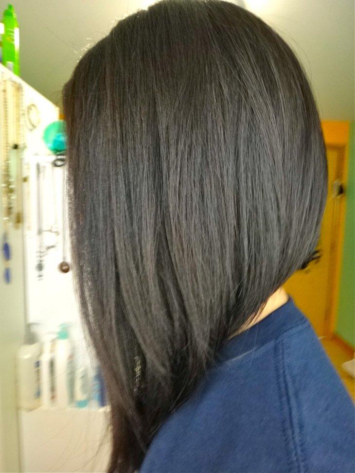 каре на ножке средняя длина волос