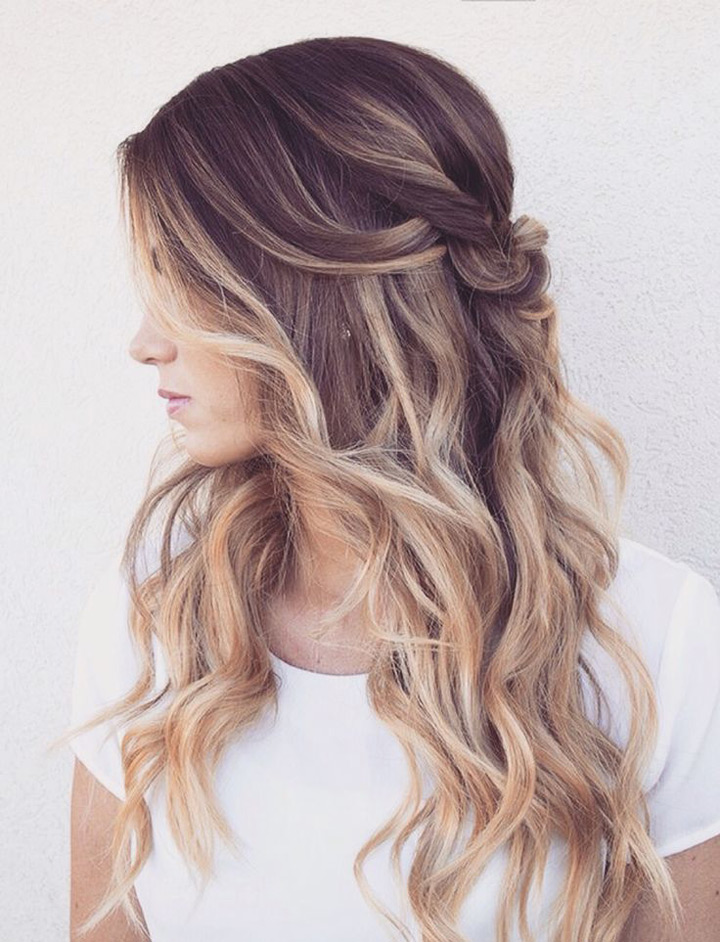 мягкие локоны по всей длине волос