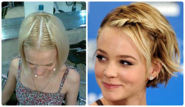 красивые и легкие прически: косы на короткие волосы