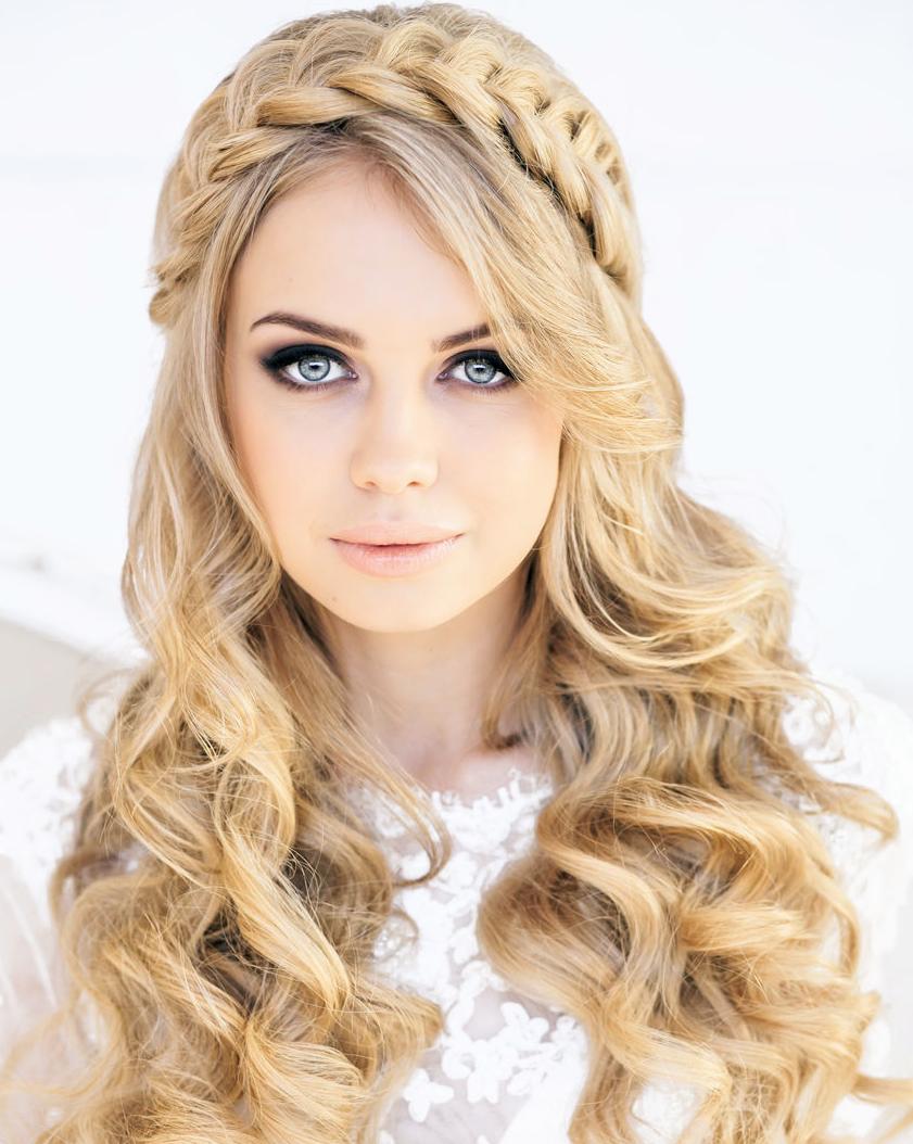 красивые и легкие прически: Коса-ободок