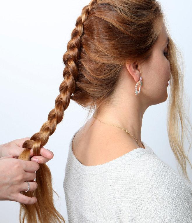 красивые и легкие прически: коса простая
