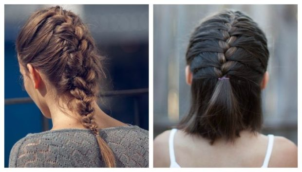 красивые и легкие прически: простые косы по центру головы