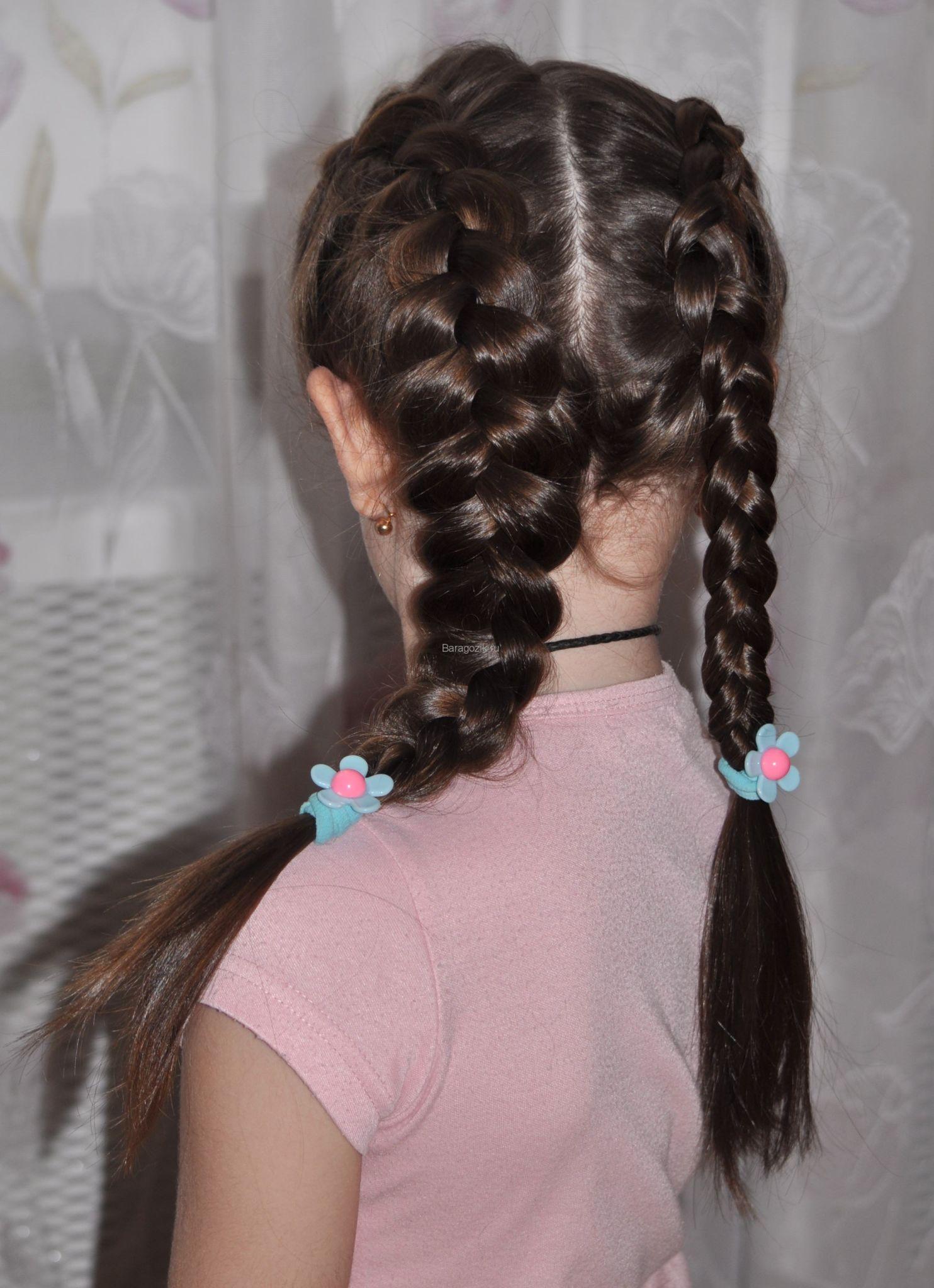 красивые и легкие прически: две косы