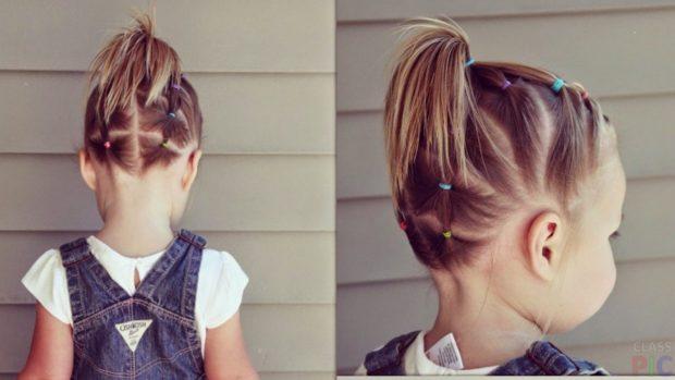 красивые и легкие прически: хвостик на короткие волосы