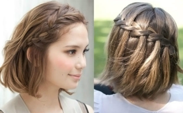 легкие прически на каждый день: коса на каре