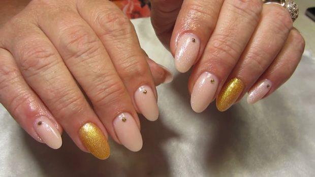 весенний маникюр 2019 года: форма ногтей овал нюдовый