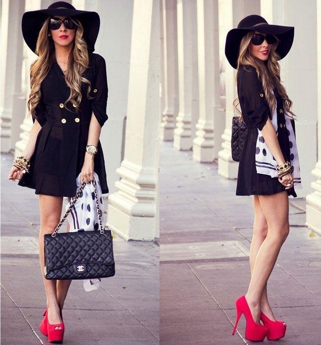 туфли кристиан лабутен: красные под платье черное