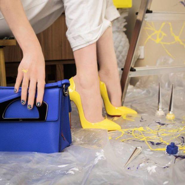 туфли лабутены: желтые острый носок