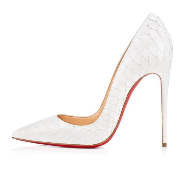 туфли лабутены: белые острый носок