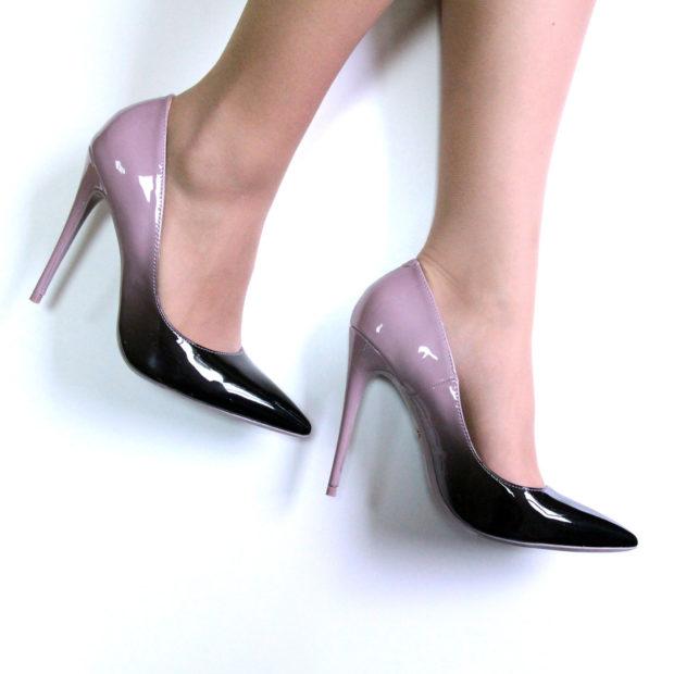туфли лабутены: острый носок омбре