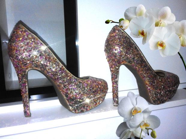 лабутены фото туфли женские: блестящие