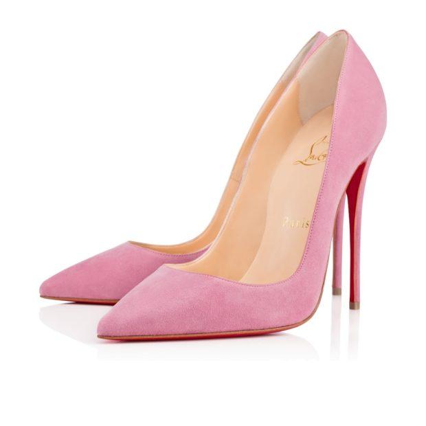 лабутены туфли фото: розовые острый носок