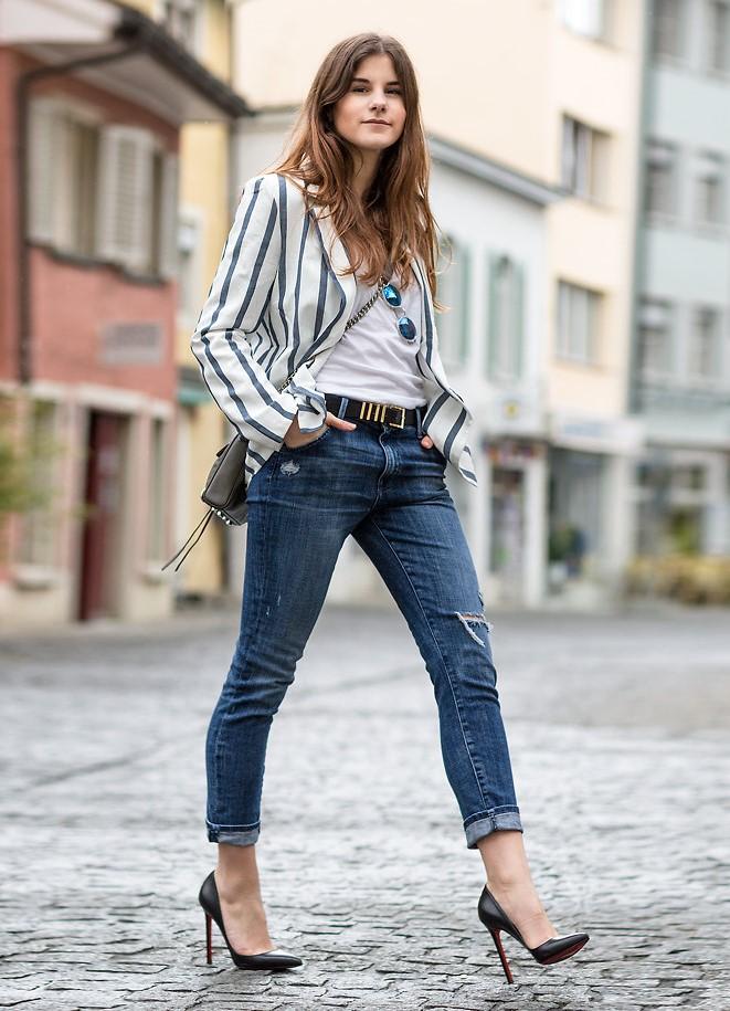 туфли кристиан лабутен: черные под джинсы короткие жакет в полоску