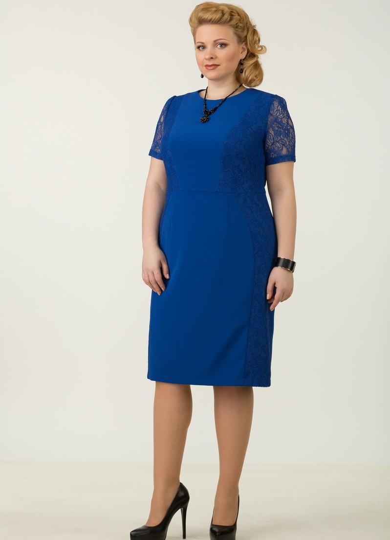 мода весна лето кому за 50: платье синее офисный стиль